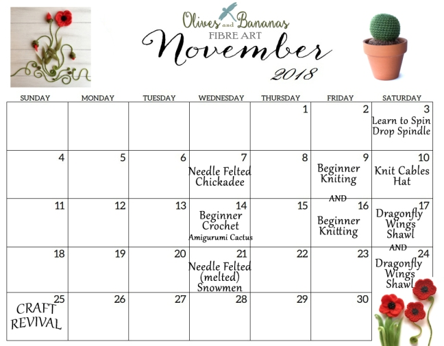 November 2018 Calendar Cute